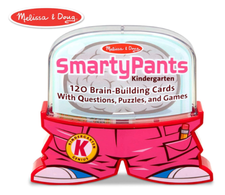 This is an image of a smarty pants educational card game for little boys.