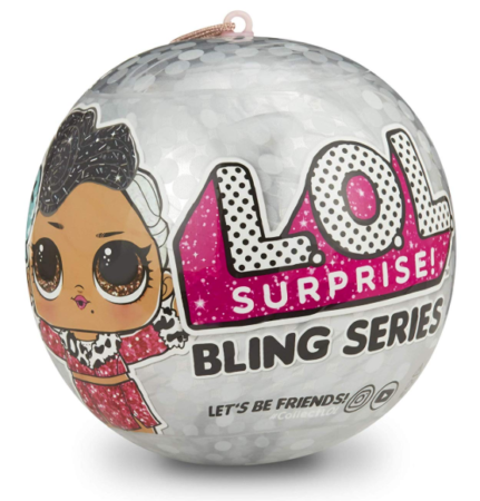 This is an image of a surprise bling ball for little girls.