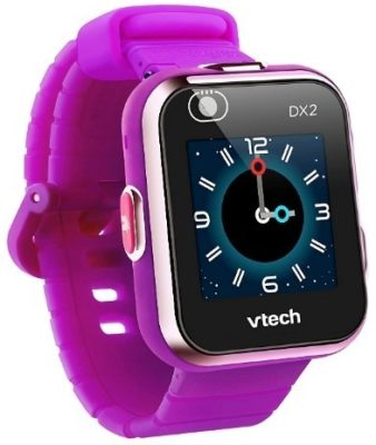 This is an image of girls smart watch kidizoom in purple color