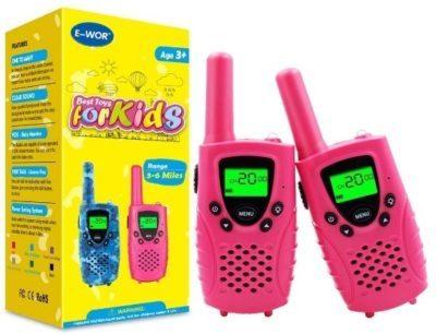 This is an image of kids walkies talkie in pink color