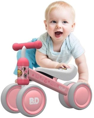 This is an image of baby pink balance bike