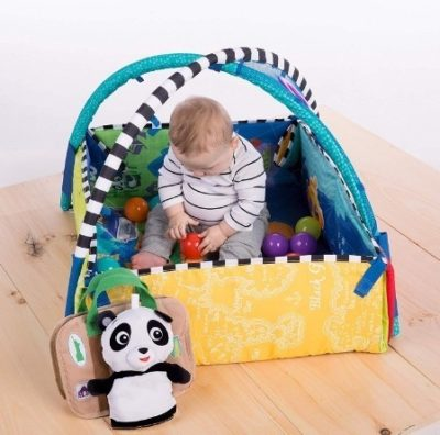 This is an image of baby toy einstein 5 in 1 activity discover