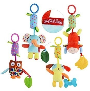 This is an image of baby toys in pack with colorful colors