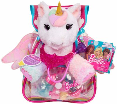This is an image of girls barbie unicorn pet doctor in pink color