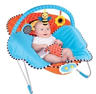 This is an image of baby bouncer in blue color