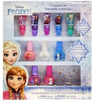 This is an image of disney frozen cosmetic set for girls