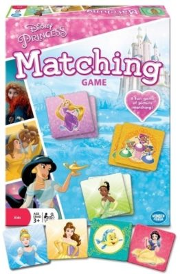 This is an image of disney princess matching game