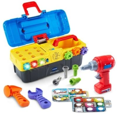 This is an image of baby toolbox toys drill and learn