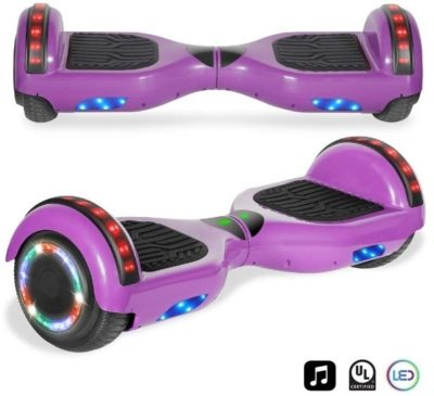 This is an image of purple hoverboard for kids