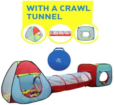 This is an image of baby dual tent with tunnel