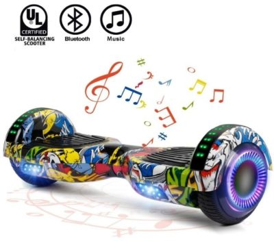 This is an image of kids electric hoverboard with beautiful graphics
