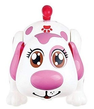 This is an image of girls electronic pet dog in pink colors