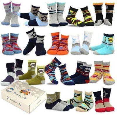 This is an image of kids 18 pair socks kids design