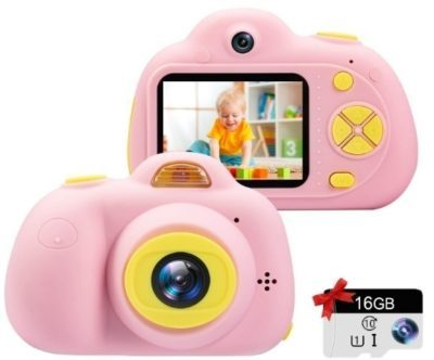This is an image of baby girls camera in pink color