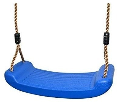 This is an image of kids blue swing set