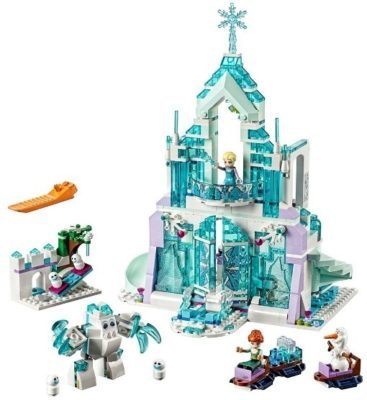 This is an image of girls lego disney frozen magical ice palace building set