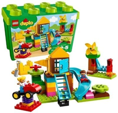 This is an image of girls lego duplo brick box building kit