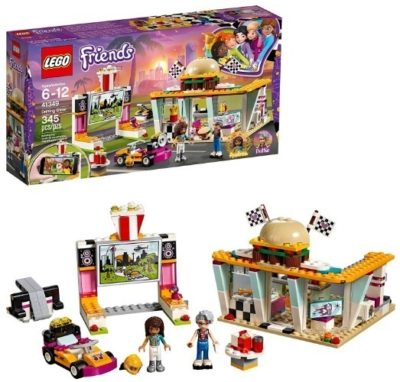 This is an image of girls lego friends drifting diner building set
