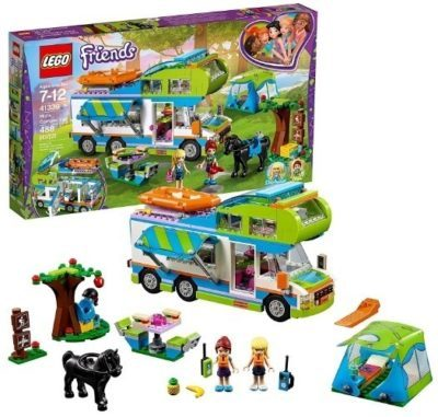 This is an image of girls lego friends mia's camper van building kit