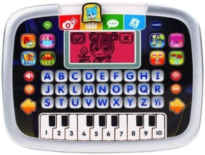This is an image of baby gray tablet little apps by VTech