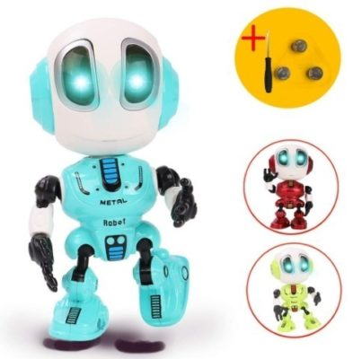 This is an image of mini robot toy in blue color