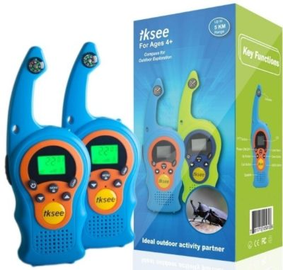 This is an image of kids walkie talkie set in blue color
