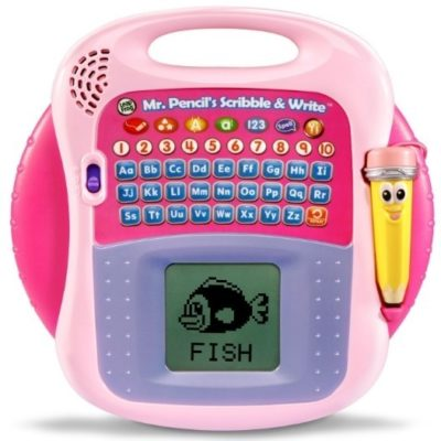 This is an image of baby girl pencil scribble and write tool in pink color