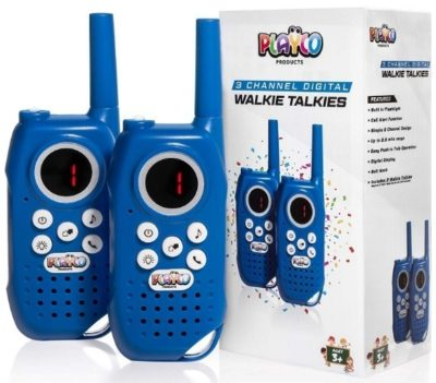 This is an image of kids walkie talkies in blue color by playco