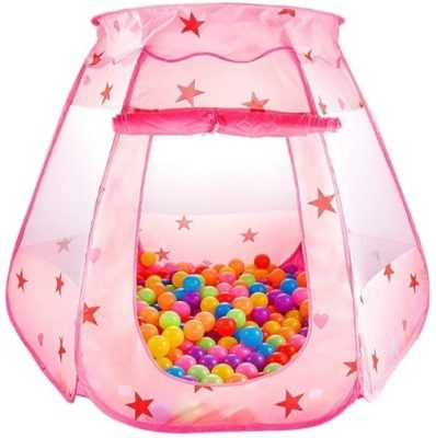 This is an image of baby princess play tent in pink color