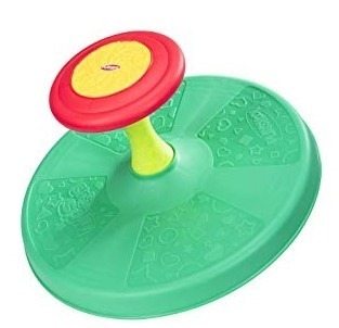 this is an image of baby classic spining activity toy in green color