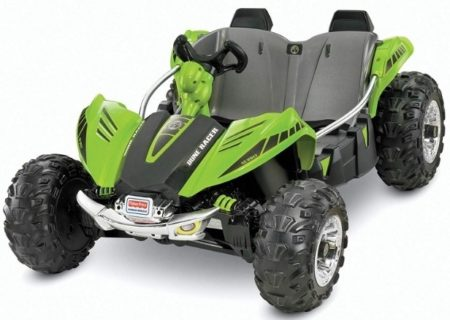 This is an image of kids wheels dune racer in gray and green colors