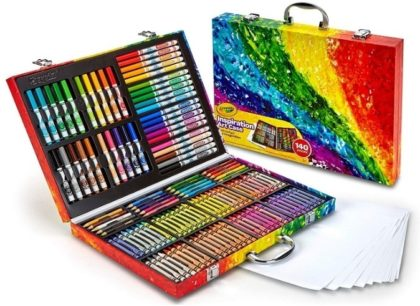 This is an image of girl's Art case with more than 140 pens by Crayola