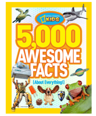 This is an image of an awesome fun facts book for kids.