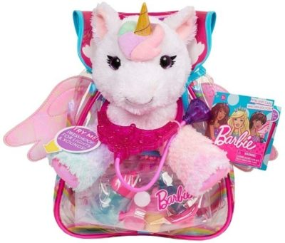 This is an image of girl's unicon pet doctory by barbie in multi colors