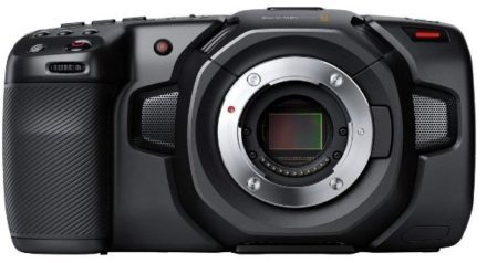 This is an image of teen's camera in 4k By blackmagic in black color