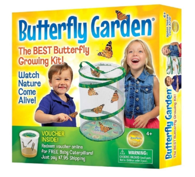 This is an image of a kid's butterfly garden set.