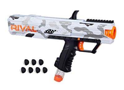 This is an image of a white Camo Series Nerf toy blaster.