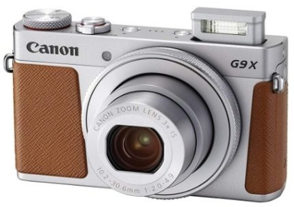 This is an image of teen's Classic digital Camera G9X in silver and brown colors by Canon