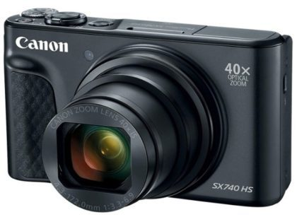 This is an image of teen's canon digital camera powershot in black color
