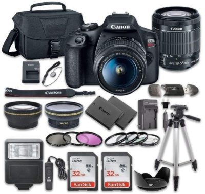 This is an image of teen's canon with all accessory kit in black color