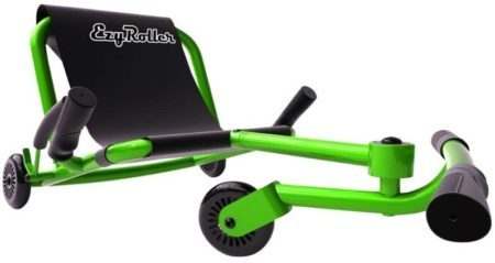 This is an image of kid's classic ride on in green color