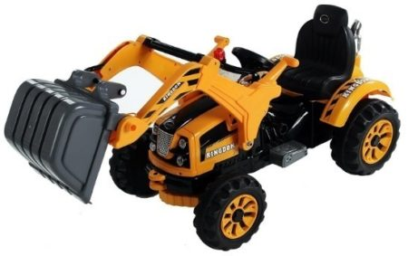 This is an image of boy's Construction Vehicle Digger toy in black and yellow colors