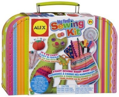 This is an image of girl's craft sweeing kit in colorful colors by ALEX