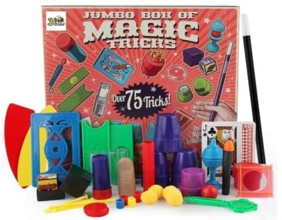 This is an image of boy's 75 magic trick kit