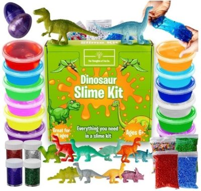 This is an image of boys dinosaur slime kit for boys