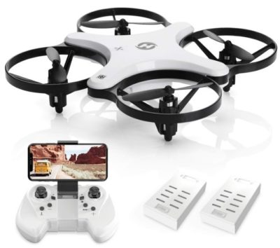 This is an image of kid's drone with 720P camera and quadcopter in white color