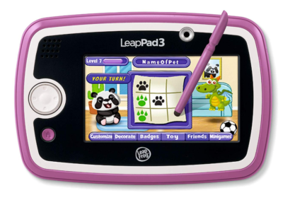 This is an image of a pink tablet for kids.
