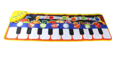 This is an image of a musical keyboard mat for kids.