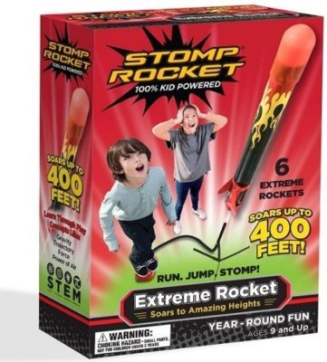 This is an image of kid's extreme rocket with 6 pack in red color