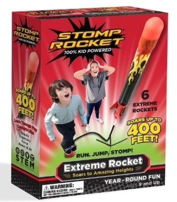 This is an image of boy's extreme rocket in red and black color